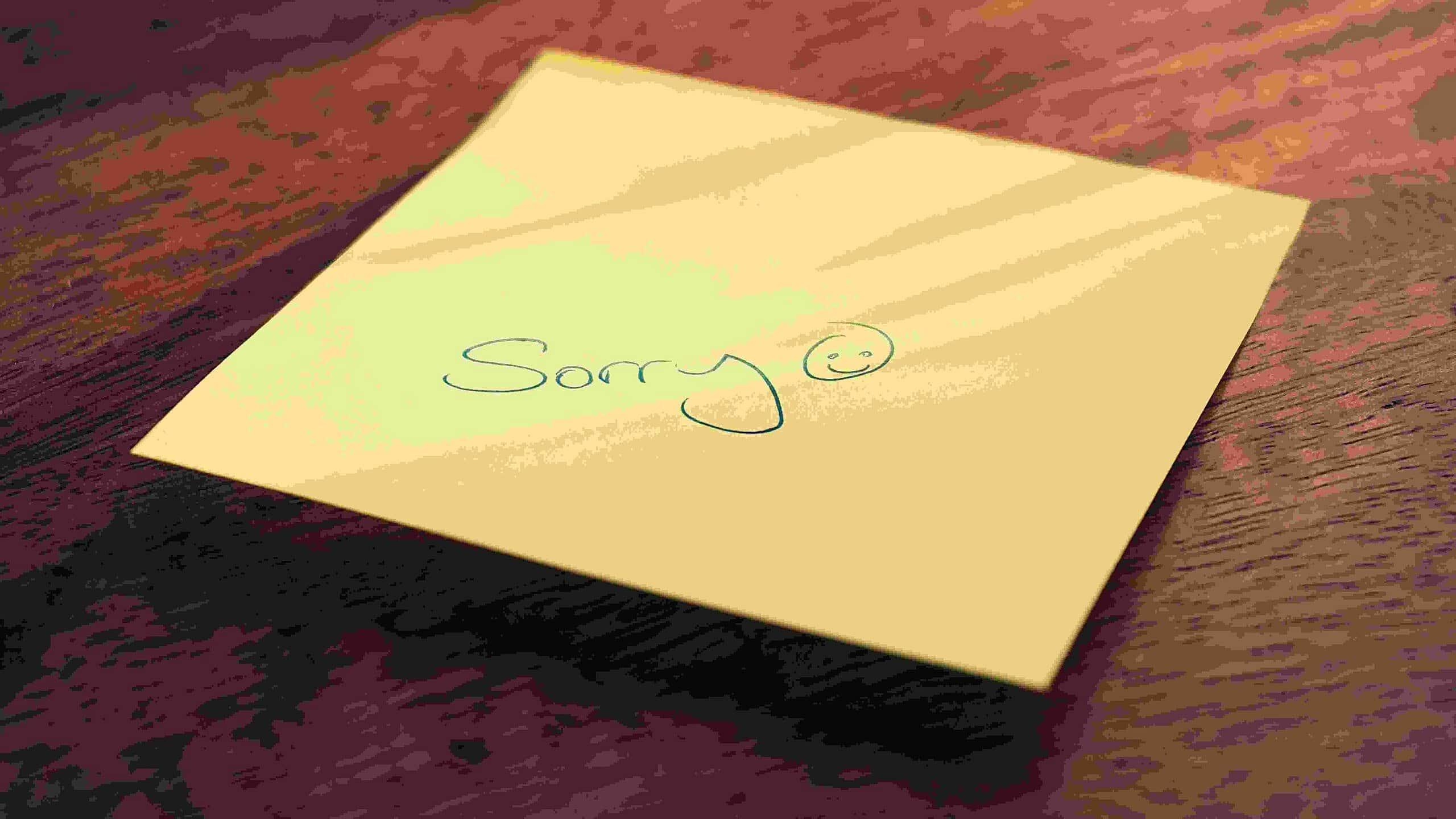 Make apology