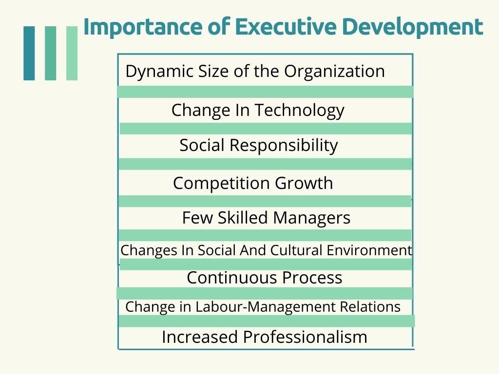 Importance of Executive Development