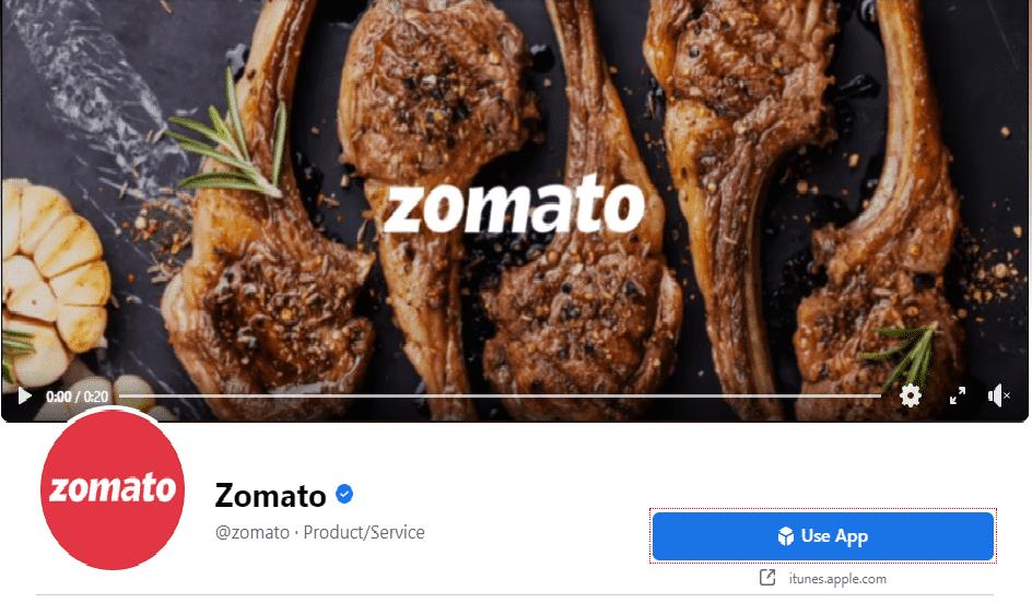Zomato Facebook
