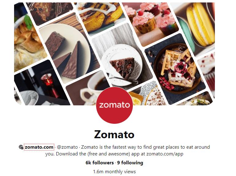 Zomato Pinterest