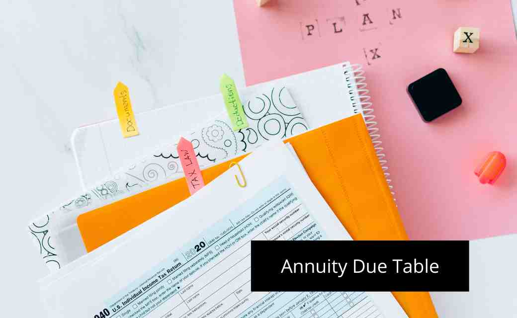 Annuity Due Table